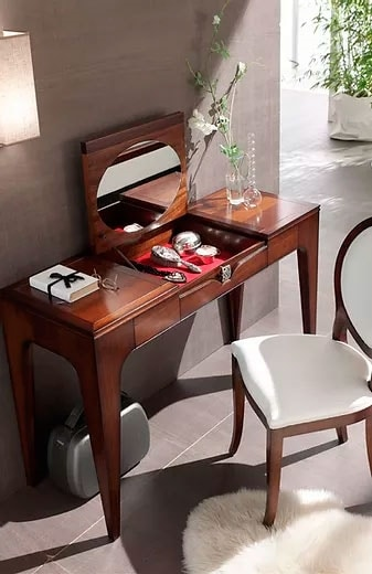 Linda, Wooden dressing table with mirror