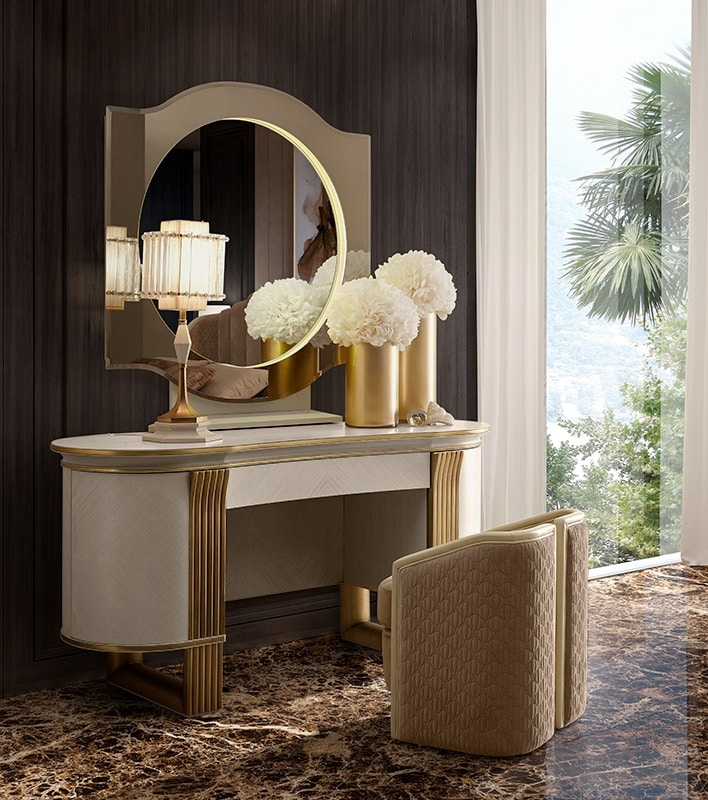 Oliver Art. OL80, Dressing table with oval-shaped silhouette