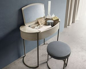 Round dressing table, Make-up console, with soft shapes