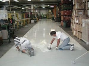epoxy resin floors for the industry 2, Floor with fast installation, easy to clean, for store