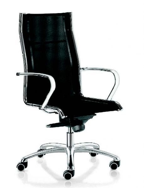11509 Jolly, Office armchair in mesh, with high backrest