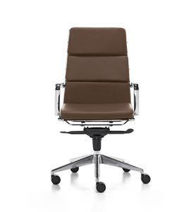 Aalborg Soft 01, Executive chair with high backrest for office