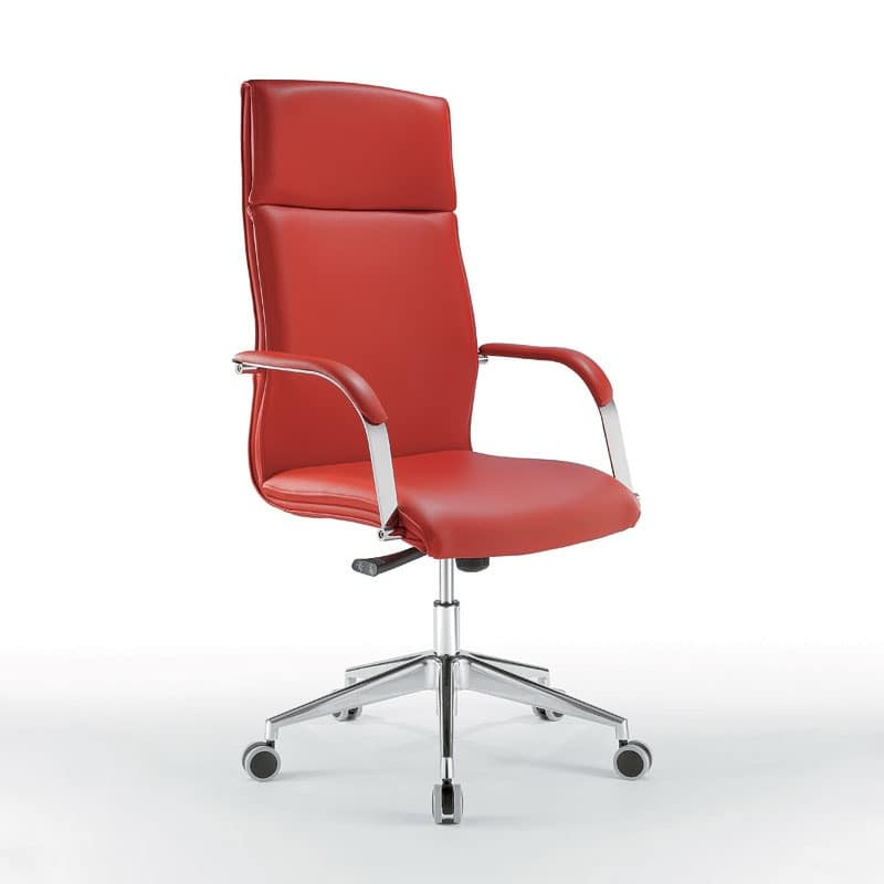Araiss high, Directional chair with a refined line, with wheels