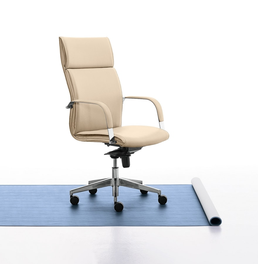 Berlin 01, Executive chair with high backrest for office