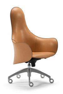 Hipod & Lopod swivel armchair 10.0194, Leather office armchair