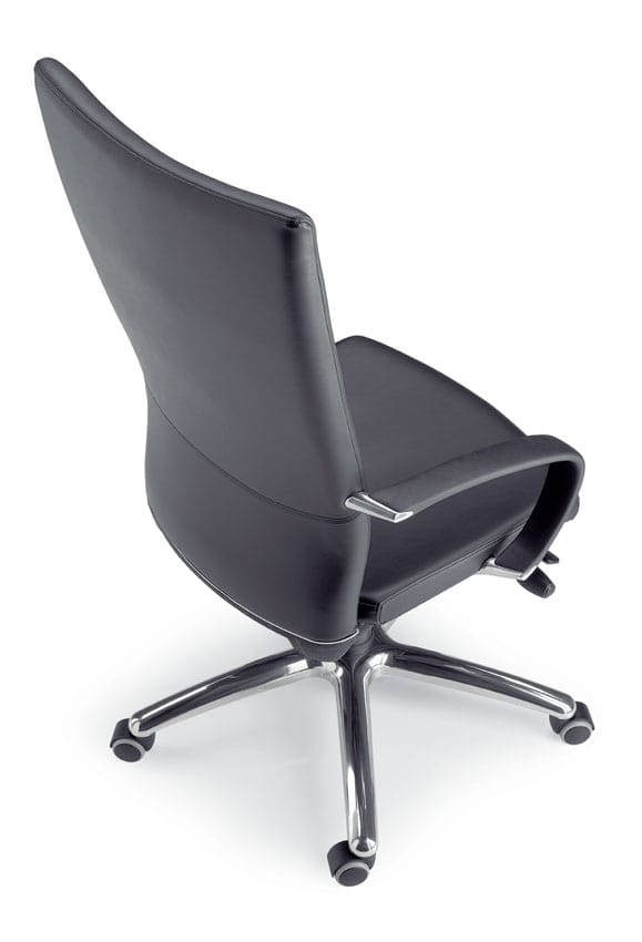 King, Directional high-back chair with wheels