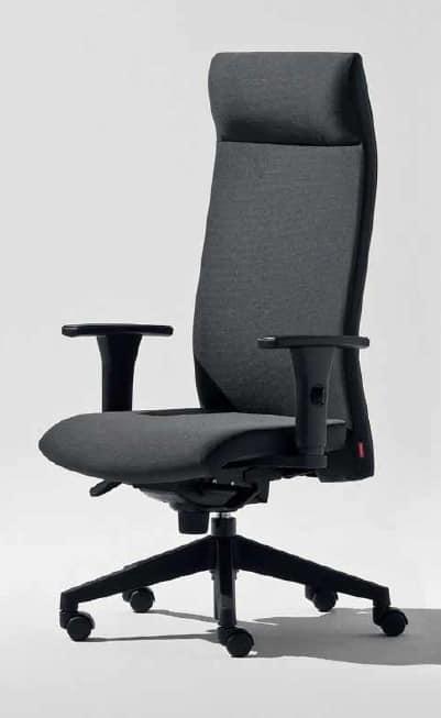 Lora-P, Office armchair with headrest