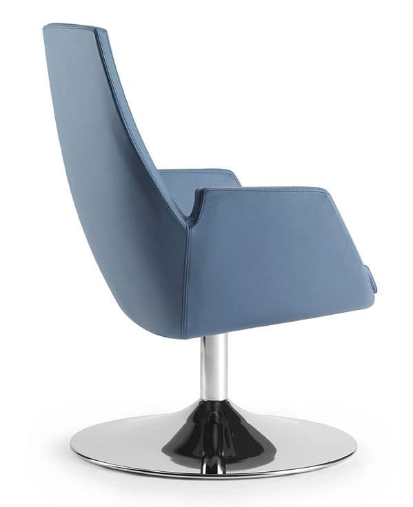 NUBIA 2911, Chair with integral injection padding, for office