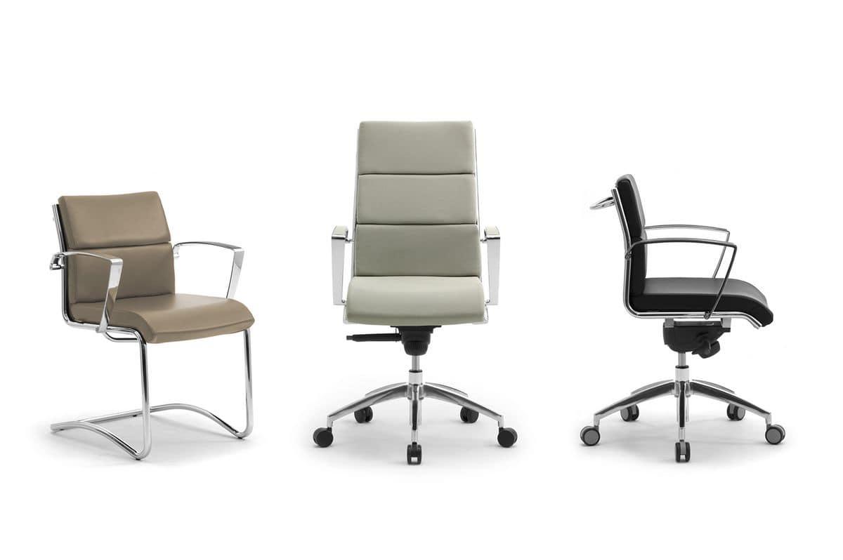 Origami CU high executive 70410, Presidential office chair, chromed aluminum