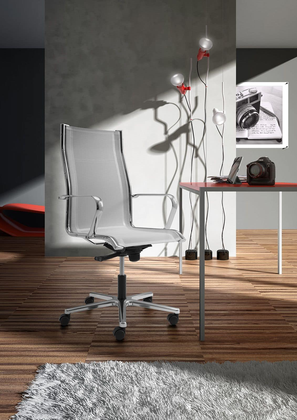 Origami RE high executive 70211, Office chair with seat and backrest made of mesh