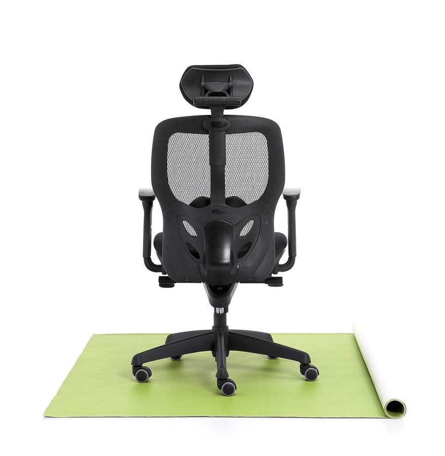 Tempo 01, Office chair, upholstered seat, mesh back