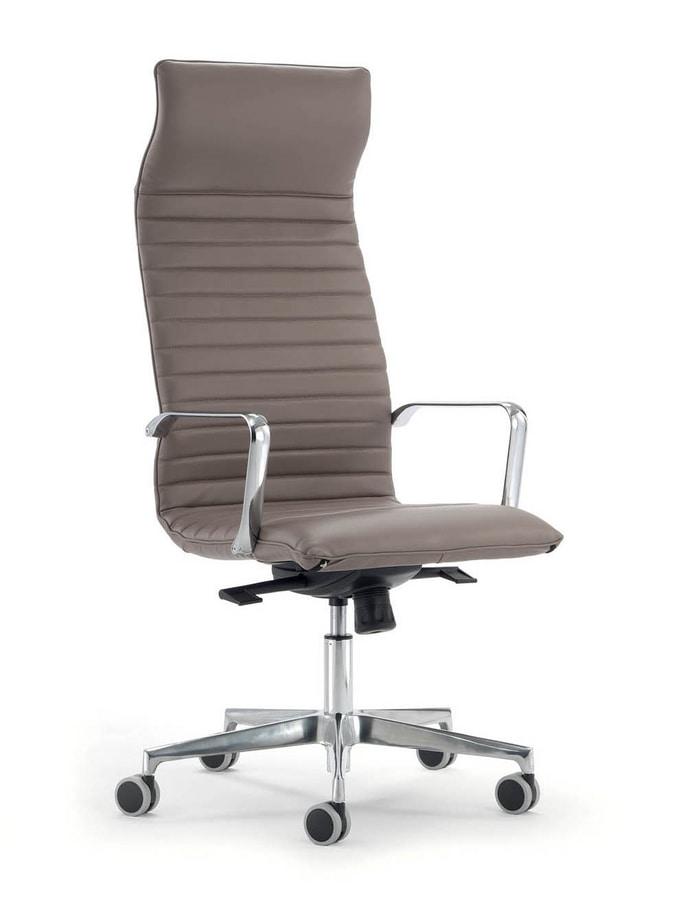 UF 560 / A, Executive office armchair with headrest.