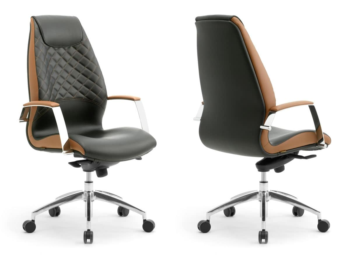 Wave high executive 1500, Presidential armchair, covered in leather