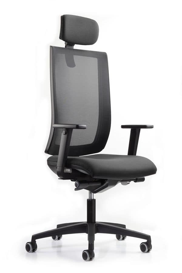 WIND 119, Office chair, headrest with height adjustment