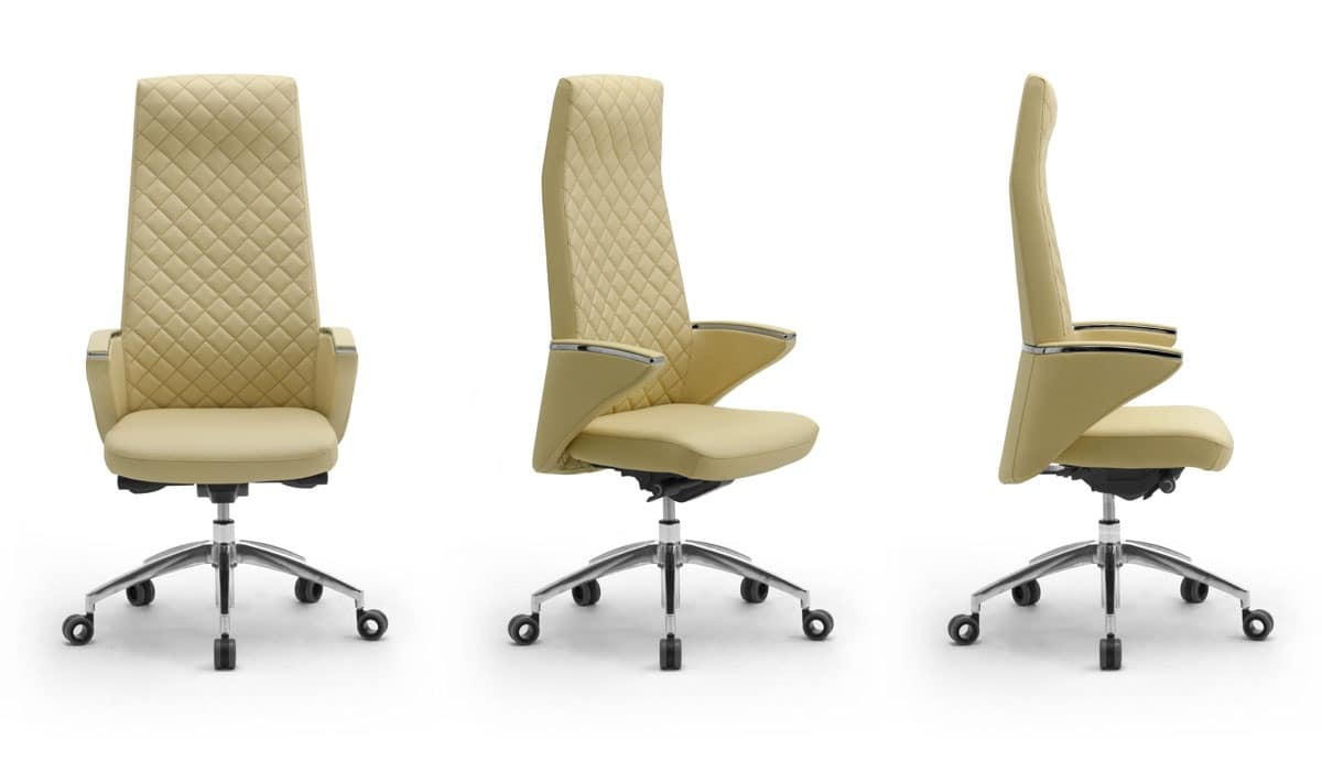 Zeus high executive 2600, Office armchair with leather upholstery