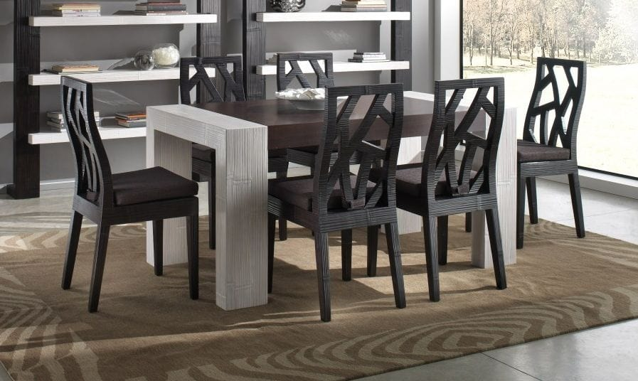 Chair light black, Ethnic chair for dining table