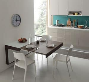 A106 daisy tavolo, Modern table ideal for apartments