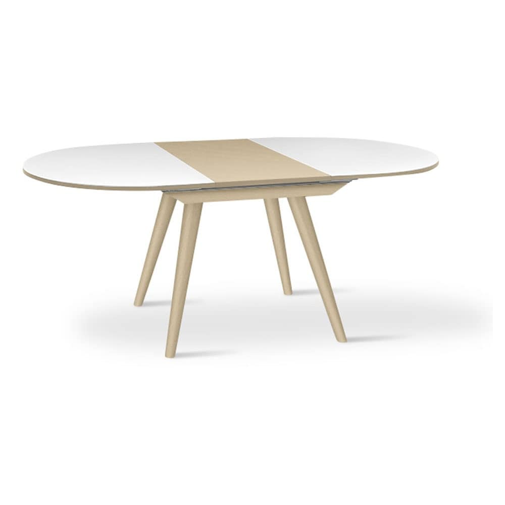 ARIS 160, Extending Oval Table With Tapered Legs, For Restaurants