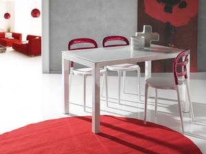Art. 639 Jumper, Extendable kitchen table with glass top
