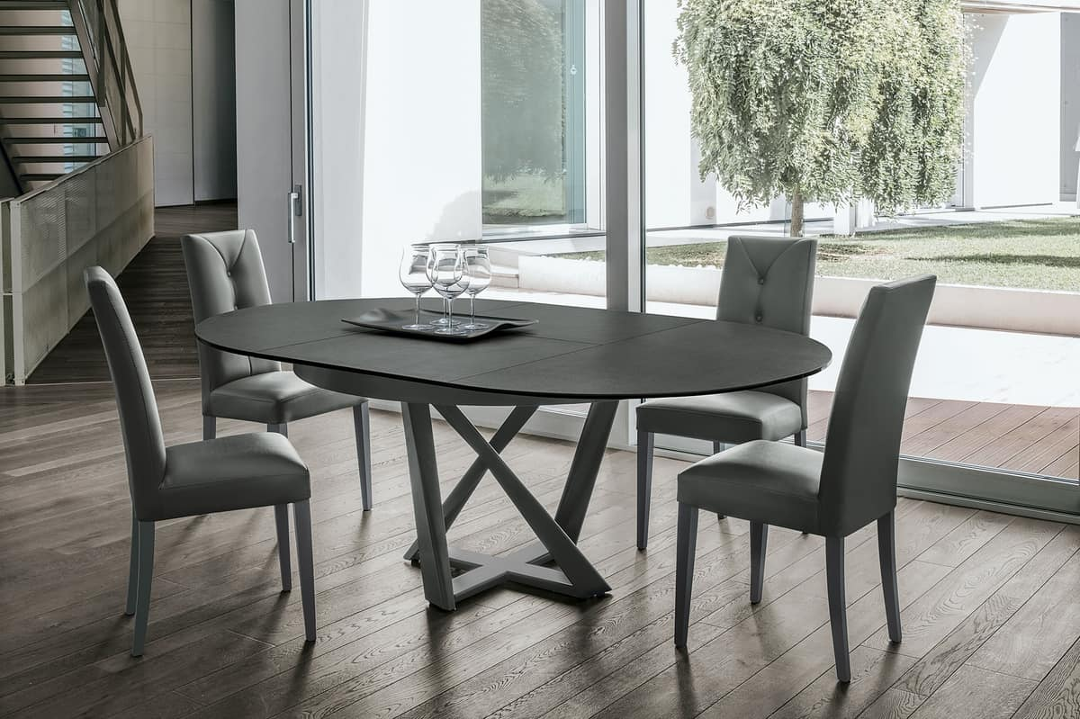 Eclipse Tavolo Rotondo Allungabile.Extensible Round Table Idfdesign