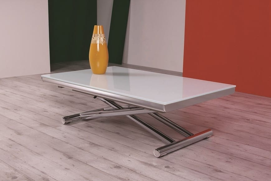 Coffee Table With Glass Top Height Adjustable Idfdesign