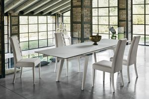 LIBECCIO 180 TA1A5, Elegant extending table for living room