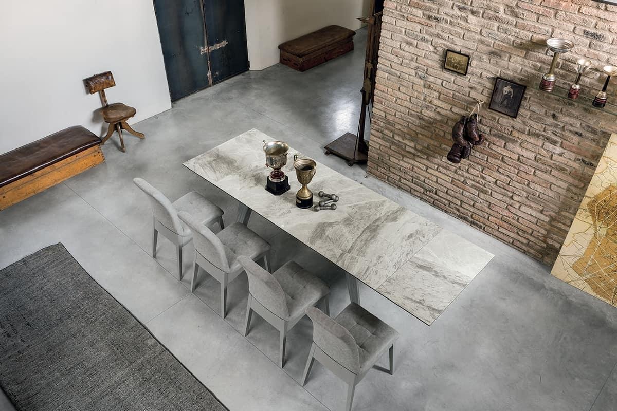 LIBECCIO 180 TA1A5, Elegant extending table for living room