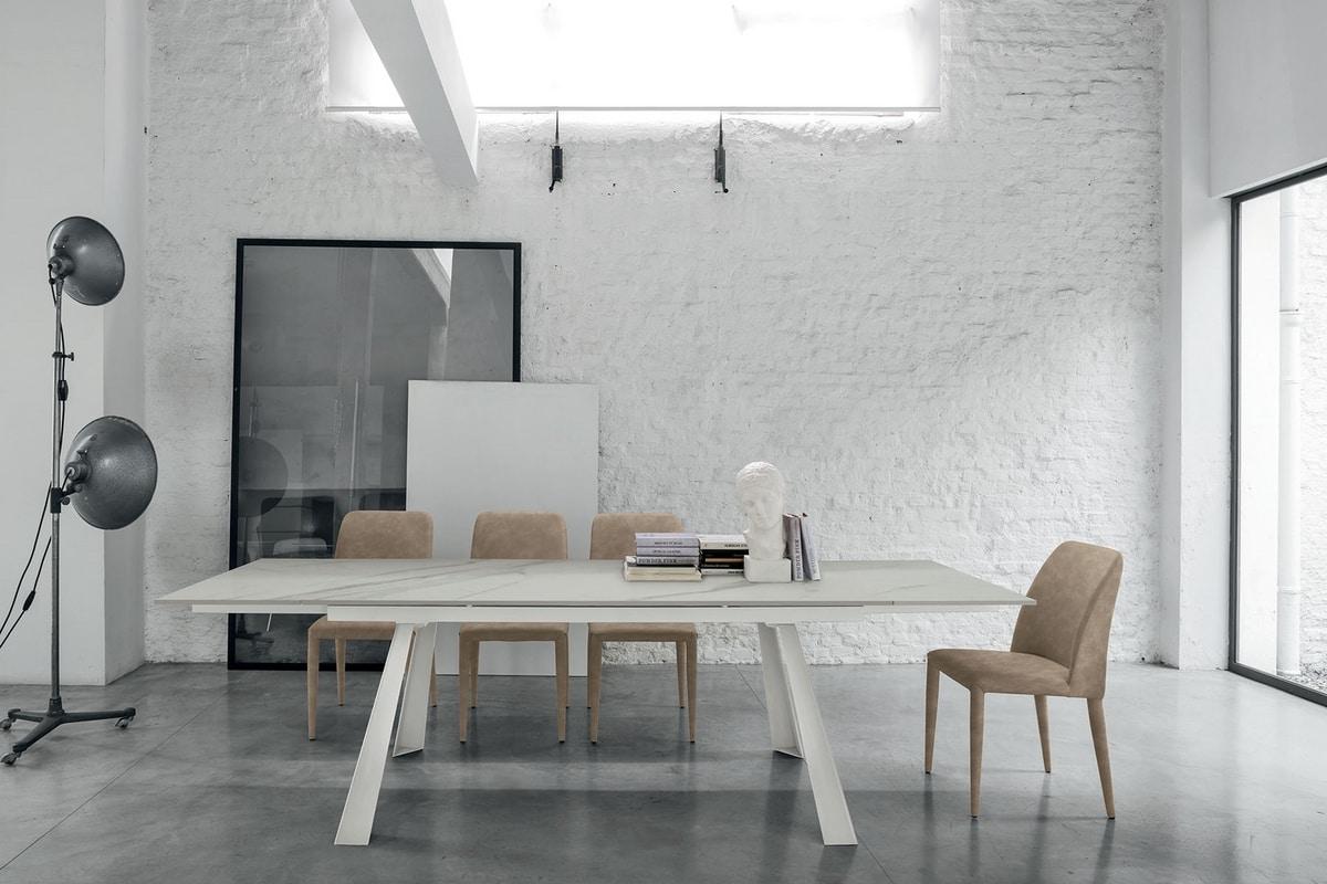 PONENTE 160 TA1A8, Modern extendable table