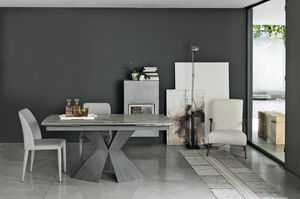 POSEIDONE 160 TA1A0, Dining table with an elegant design