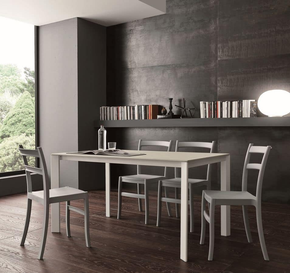 s71 gervaso, Extending table with glass top