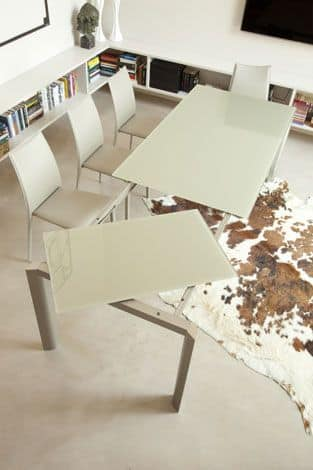 s73 giordano, Extensible table in painted aluminum or brill aluminium