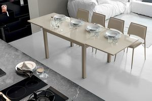 VEGA 120 TA101, Extendable table with glass top