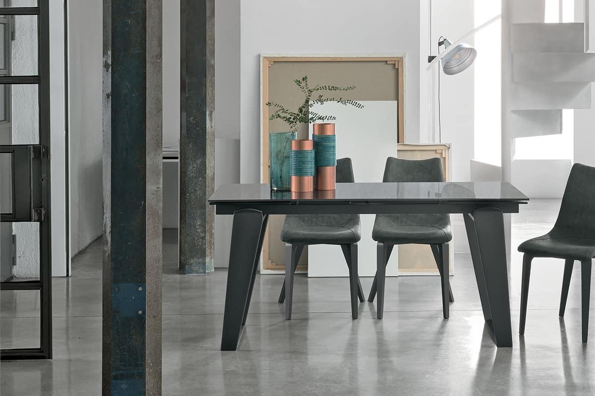 ZEUS 160 TA1A9, Extending table for modern living room