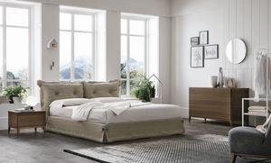 Amami, Bed with fabric upholstery