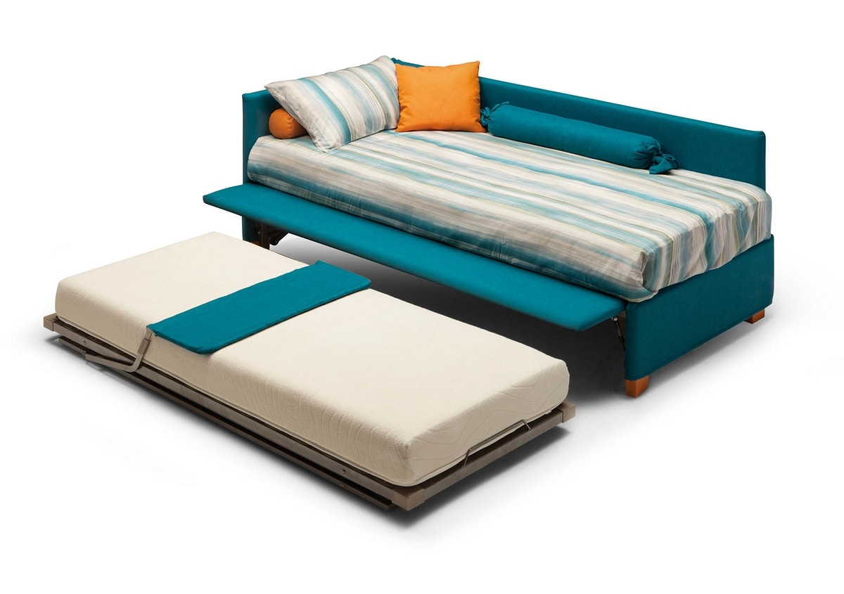 Antigua, Versatile bed covered in fabric