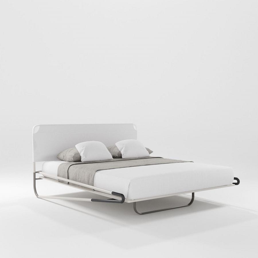 Portofino Due, Bed with three-dimensional fabric headboard