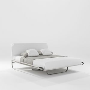 Portofino Due, Bed with three-dimensional fabric headboard