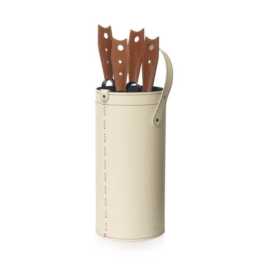 Cinta, Toolbox in bonded leather, with bottom in plywood