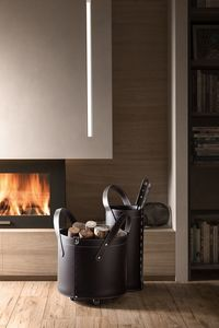 Tocad, Leather set for fireplace