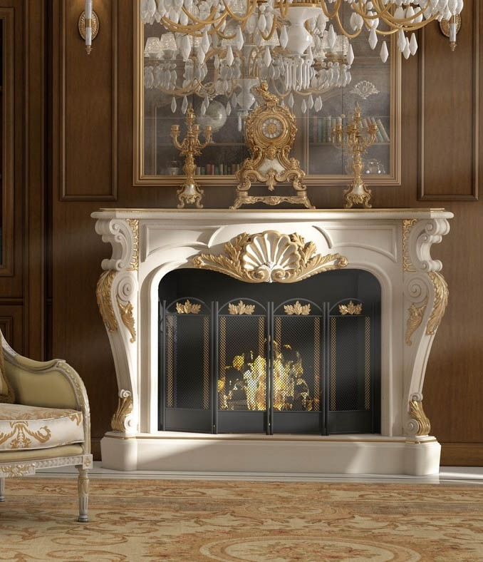 Art. 25L, Elegant fireplace covering