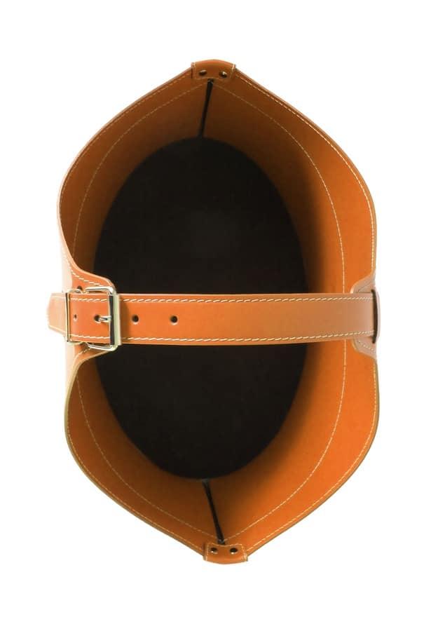 Fabia, Firewood holder elegant, made of bonded leather