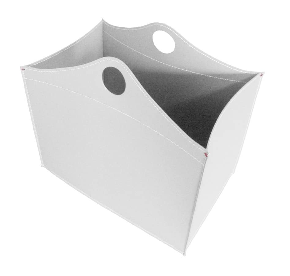 WoodBag, Firewood holder in bonded leather, for restaurants and homes