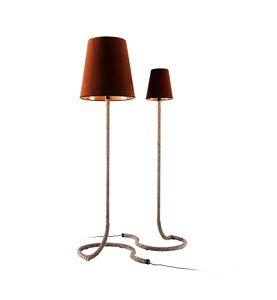 740104 Snake, Floor lamp, with base covered in leather