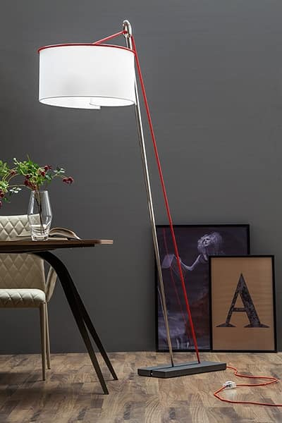 AGO E FILO, Floor lamp with cylindrical shade