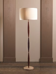 AMMOS HL1006WFL-1, Ground lamp in brass with lampshade