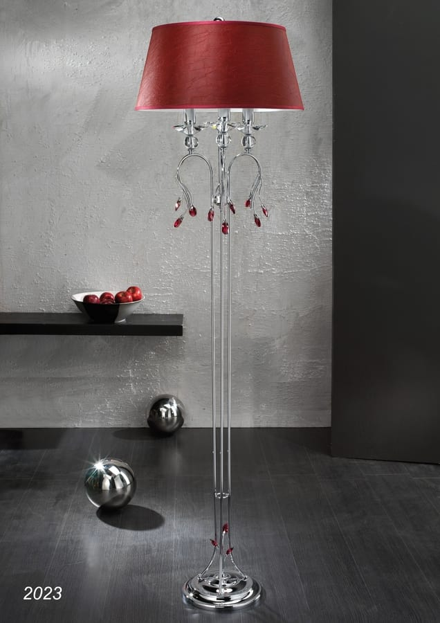 Art. 2023 Soiree, Floor lamp in chrome plated Brass with Crystal decors