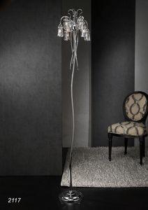 Art. 2117 Orion, Floor lamp with Swarovski crystals