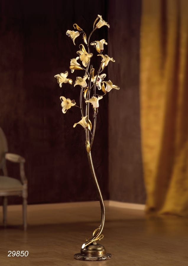 Art. 29820 Jolie, Floor lamp with floral glass decorations