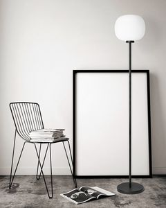 Bombo, Floor lamp with blown glass diffuser