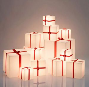 Christmas present cube table floor lamp Merry Cubo by slide LP CUX0, Gift box shaped lamp